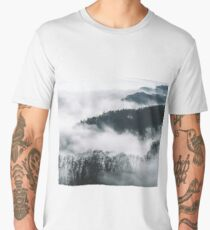 Ethereal misty forest Men's Premium T-Shirt