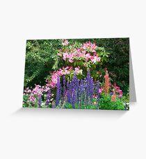 Pretty garden Greeting Card