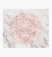 Rose gold mandala - shimmer vein marble Photographic Print