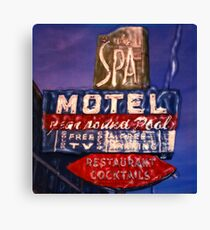 Spa Motel Canvas Print