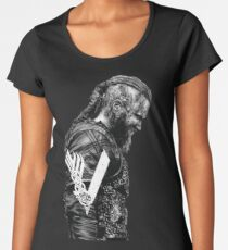 Camiseta premium para mujer KING RAGNAR LOTHBROK - VIKINGS