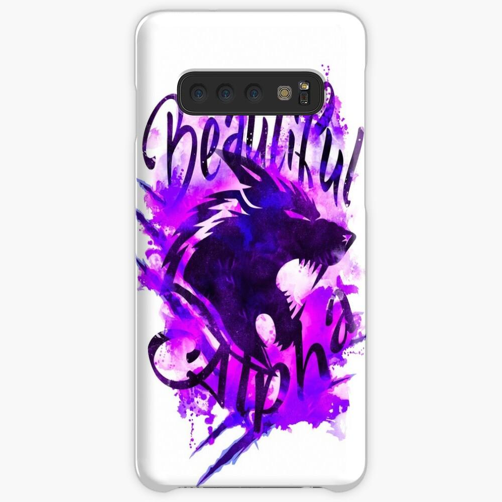 Beautiful Alpha Wolf Purple Case & Skin for Samsung Galaxy