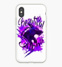 Beautiful Alpha Wolf Purple iPhone Case