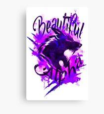 Beautiful Alpha Wolf Purple Canvas Print