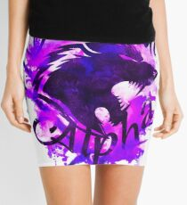 Beautiful Alpha Wolf Purple Mini Skirt