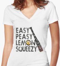 THE WALKING DEAD - NEGAN - EASY, PEASY, LEMON SQUEEZY Women's Fitted V-Neck T-Shirt