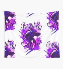 Beautiful Alpha Wolf Purple Wall Tapestry