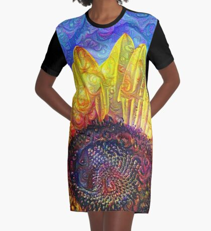 Solar eyelashes Graphic T-Shirt Dress