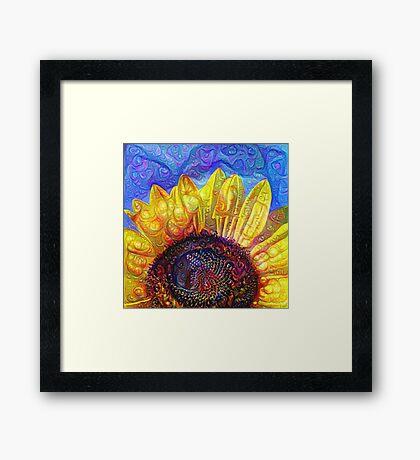 Solar eyelashes Framed Print