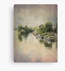 River Seine at La Defense, Paris, France #5 Canvas Print