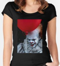 Stephen King It Pennywise Women's Fitted Scoop T-Shirt