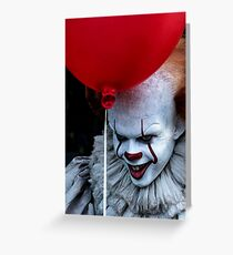 Stephen King It Pennywise Greeting Card