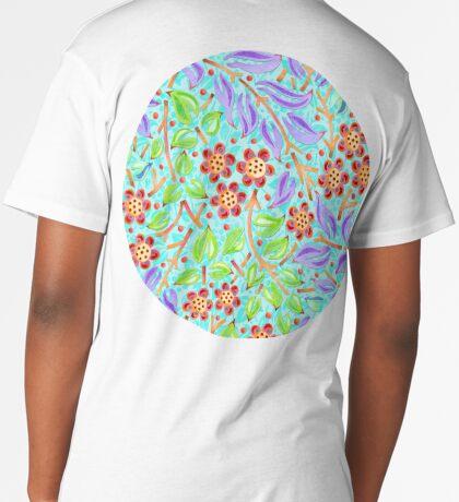 Caribbean Filigree Floral  Long T-Shirt