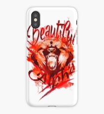 Beautiful Alpha Bear Red iPhone Case