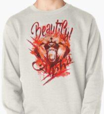 Beautiful Alpha Bear Red Pullover Sweatshirt