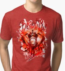 Beautiful Alpha Bear Red Tri-blend T-Shirt