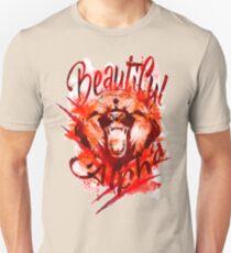 Beautiful Alpha Bear Red Slim Fit T-Shirt