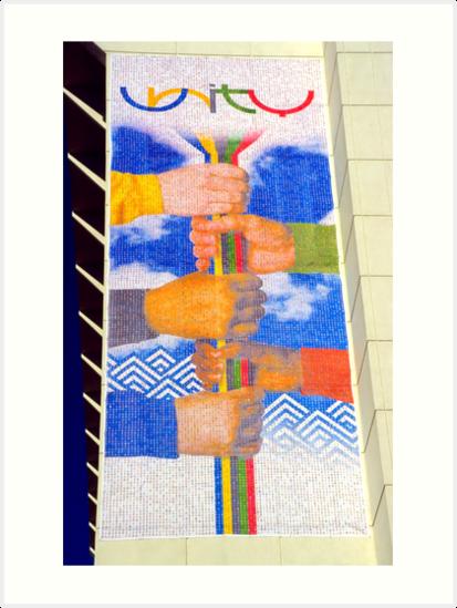 Unity Banner (SLC Skyscraper During 2002 Winter Olympics) by SteveOhlsen