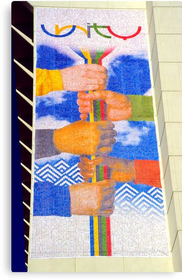 Unity Banner (SLC Skyscraper During 2002 Winter Olympics) by SteveOhlsen