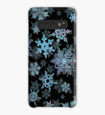 Embroidered Snowflakes on dark Case/Skin for Samsung Galaxy