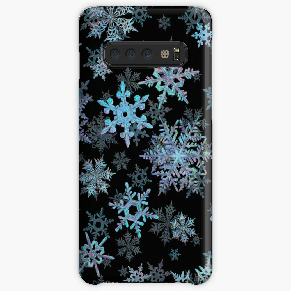 Embroidered Snowflakes on dark Case & Skin for Samsung Galaxy