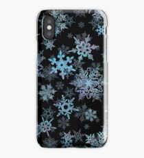 Embroidered Snowflakes on dark iPhone Case