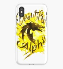 Beautiful Dragon Alpha Yellow iPhone Case