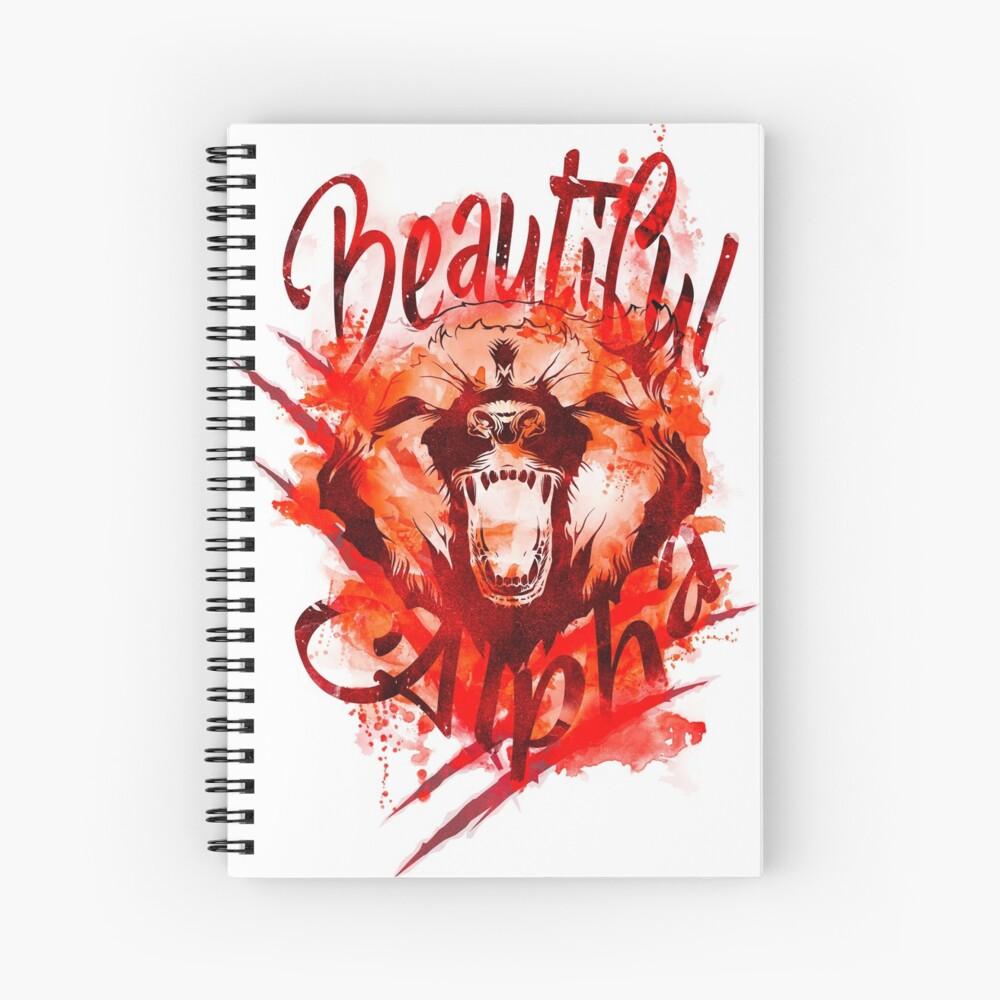 Beautiful Alpha Bear Red Spiral Notebook
