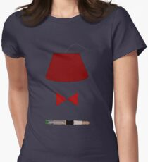 11th Doctor Minimalist Piece Womens Fitted T-Shirt