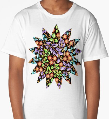 Filigree Floral - smaller scale Long T-Shirt