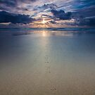Footprints on the Beach by Paul Campbell  Photography