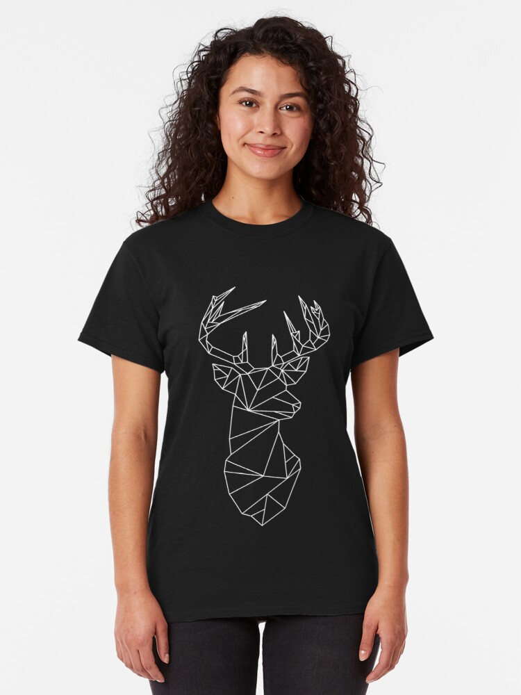 Alternate view of Geometric Stag Classic T-Shirt