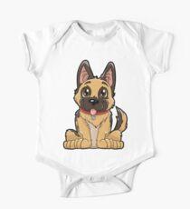 Schäferhund-niedliches Welpen-T-Shirt Lustiges Hundewelpen-Geschenk Kurzärmeliger Einteiler