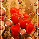 Champaign and Roses by Pat Moore