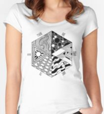 Trippy Hexagon Women's Fitted Scoop T-Shirt