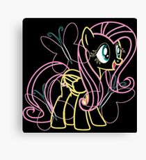 Fluttershy and Cutie Mark Inspired Canvas Print