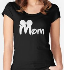 MOM mickey Women's Fitted Scoop T-Shirt
