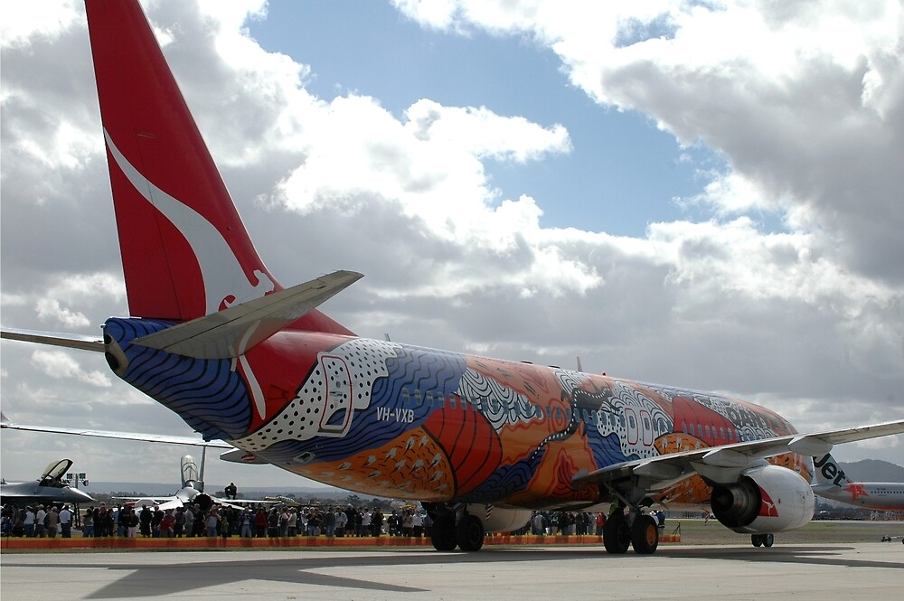 Dreaming Artwork, QANTAS Boeing 737, Avalon Airshow 2007 by muz2142