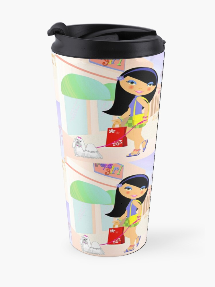 Alternate view of TropoGirl - A day in the mall Travel Mug