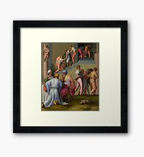Pharaoh with his Butler and Baker 1515 Pontormo Framed Print