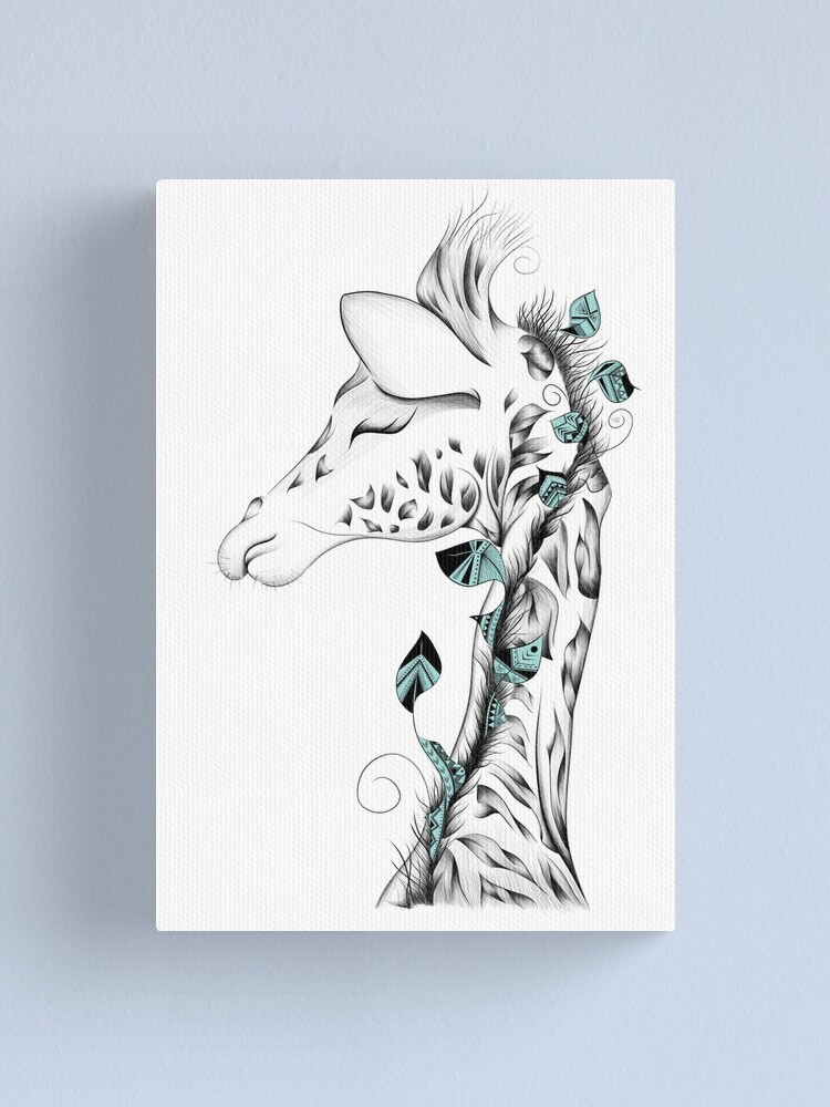 Alternate view of Poetic Giraffe Canvas Print