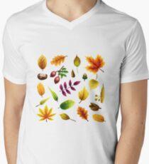 Fall Fun T-Shirt mit V-Ausschnitt