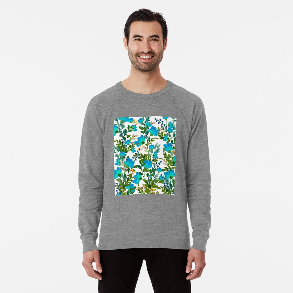 Blue #redbubble #decor #buyart Lightweight Sweatshirt