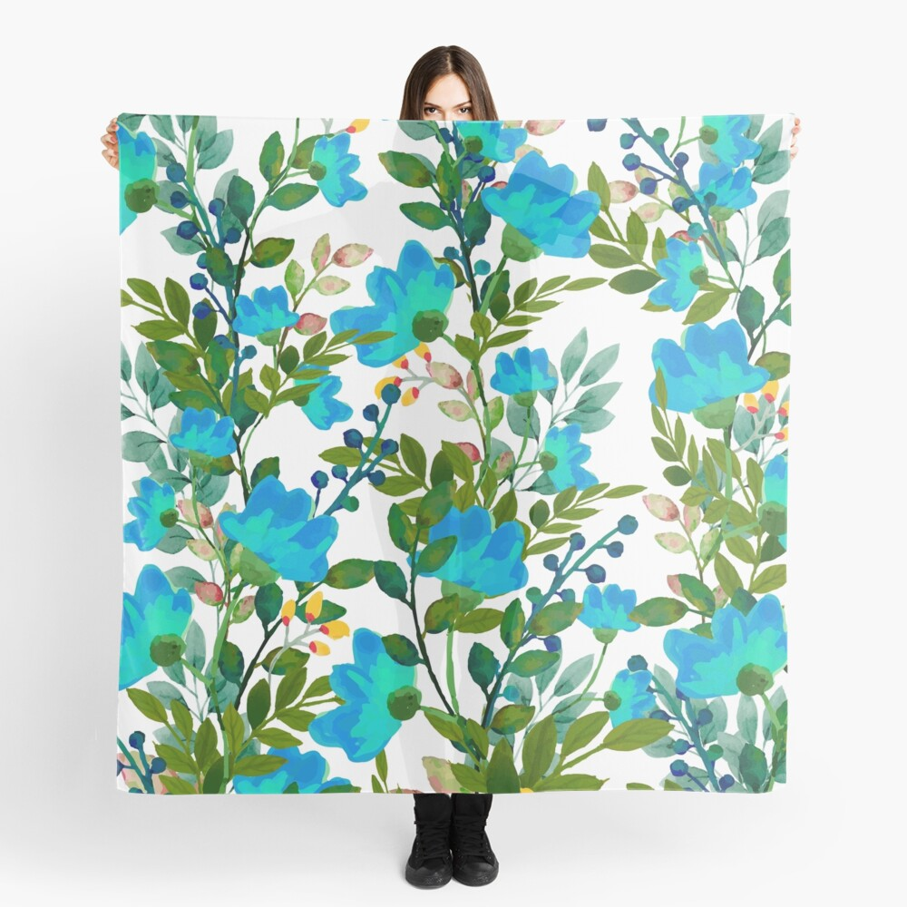 Blue #redbubble #decor #buyart Scarf