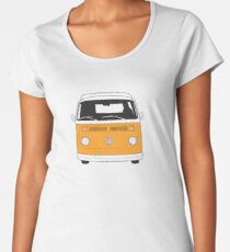Late Bay VW Camper Orange Front Women's Premium T-Shirt