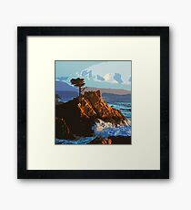 Pebble Beach California, The Lone Cypress Framed Print