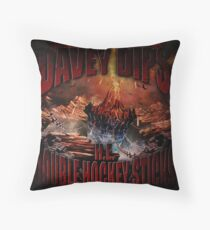 H.E. DOUBLE HOCKEY STICKS Throw Pillow