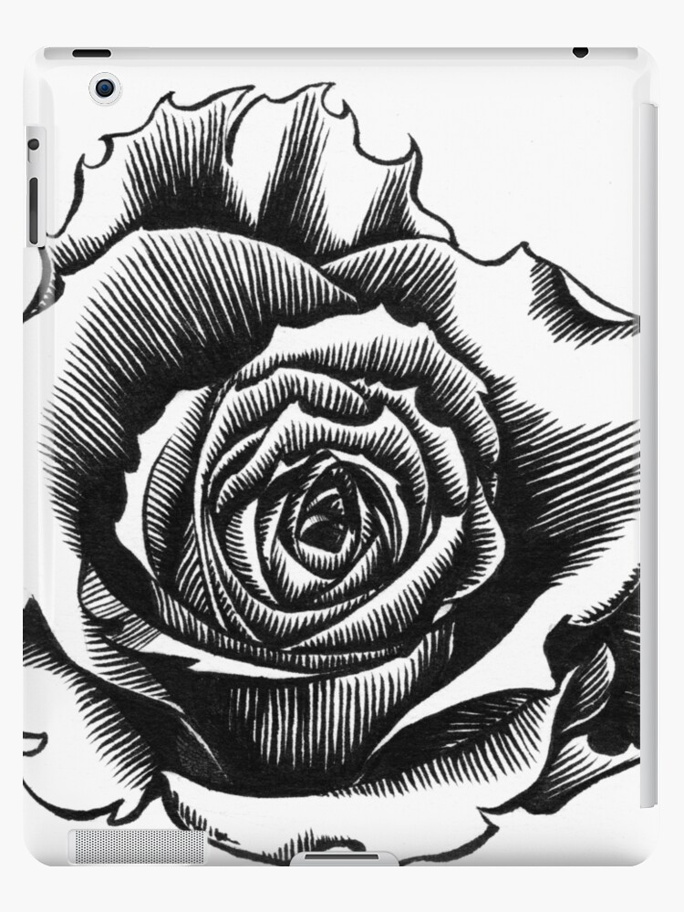 Rose Tattoo Too Ink Drawing Ipad Cases Skins By Gareth Massam