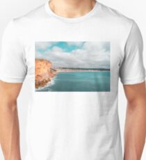 Colorful Coast in Teal and Orange at Nazare Portugal T-Shirt