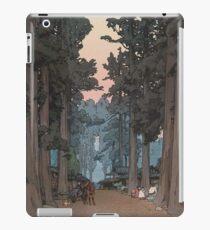 Avenue of Sugi trees, a shin-hanga work by Hiroshi Yoshida iPad Case/Skin